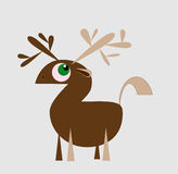 Cute Moose. Hand drawn cute animal with antlers Royalty Free Stock Photo