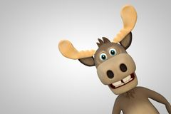 Cute moose cartoon animal zoo forest Royalty Free Stock Photography