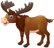 Cute moose cartoon. Illustration of Cute moose cartoon Stock Images