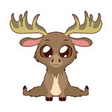 Cute moose vector illustration art Royalty Free Stock Photo
