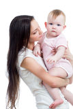Cute mother with baby girl stock photography