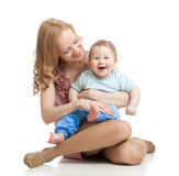 Cute mother and baby having fun Stock Image