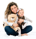 Cute mother and baby Stock Image