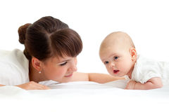 Cute mother with her baby infant Stock Photo