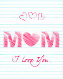 Cute Mother's Day greeting card Royalty Free Stock Images