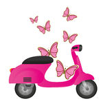 Cute motorbike Royalty Free Stock Images