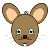 Cute Mouse. Cute baby mouse avatar or icon. No gradients Royalty Free Stock Image