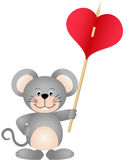 Cute mouse carries heart Stock Photography