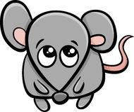Cute mouse cartoon character Stock Image