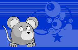 Cute mouse cartoon expression background Royalty Free Stock Photo