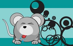 Cute mouse cartoon expression background Stock Images