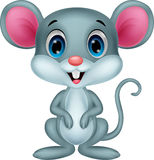 Cute mouse cartoon Stock Images