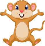 Cute mouse cartoon Stock Image