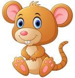 Cute mouse cartoon Stock Photos