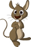 Cute mouse cartoon posing Stock Photos