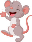 Cute mouse cartoon posing Royalty Free Stock Images