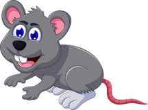 Cute mouse cartoon posing Stock Photography