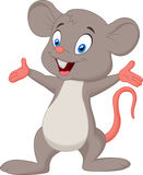 Cute mouse cartoon presenting Royalty Free Stock Image