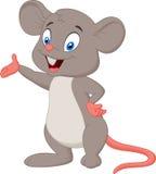 Cute mouse cartoon presenting Stock Photos