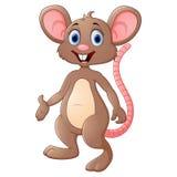 Cute mouse cartoon presenting Stock Photo