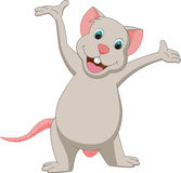 Cute mouse cartoon presenting Stock Image