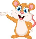 Cute mouse cartoon waving hand Stock Photo