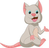 Cute mouse cartoon waving hand Royalty Free Stock Photo