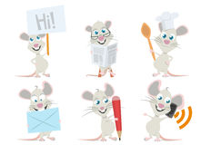 Cute Mouse Character Royalty Free Stock Photo