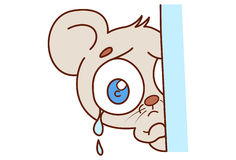 Cute mouse Crying. Royalty Free Stock Photography