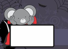 Cute mouse dracula costume copyspace Stock Images
