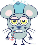 Cute mouse feeling sadly sick Royalty Free Stock Images