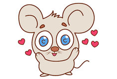 Cute mouse in love. Stock Photo