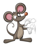 Cute mouse. Rat applause. Cleaning illustration. Cute mouse. Rat applause stock illustration