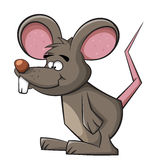 Cute mouse. Rat applause. Cleaning illustration. Cute mouse. Rat applause royalty free illustration
