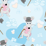 Cute mouse seamless pattern Royalty Free Stock Photo
