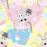 Cute mouse seamless pattern Royalty Free Stock Images