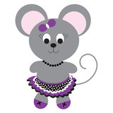 Cute mouse in skirt Stock Image