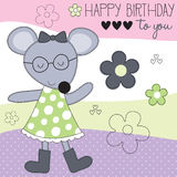 Cute mouse vector illustration Stock Image