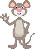 Cute mouse waving cartoon Royalty Free Stock Image