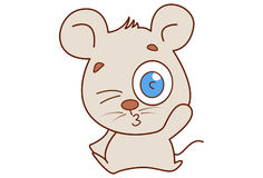 Cute mouse winking and pouting. Royalty Free Stock Photo