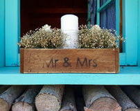 Cute Mr. Mrs inscription royalty free stock photo