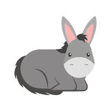 Cute mule manger character. Vector illustration design Stock Images