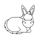 Cute mule manger character. Vector illustration design Royalty Free Stock Image