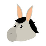 Cute mule manger character. Vector illustration design Stock Image
