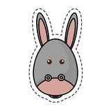 Cute mule manger character. Vector illustration design Royalty Free Stock Images