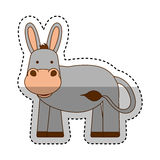 Cute mule manger character. Vector illustration design Stock Photo
