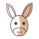 Cute mule manger character. Vector illustration design Royalty Free Stock Photography