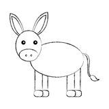 Cute mule manger character. Vector illustration design Stock Photos