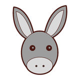 Cute mule manger character. Vector illustration design Stock Photography