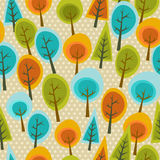 Cute multicolored forest pattern Stock Photos